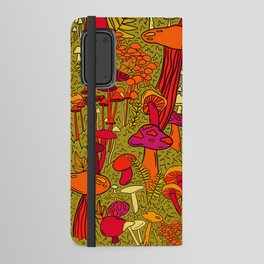 Mushrooms in the Forest Android Wallet Case