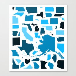 Knolled States of America Canvas Print