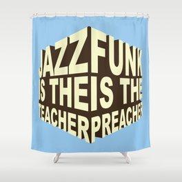Jazz Funk Cube Shower Curtain