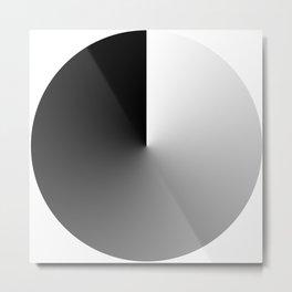 FADE BLACK Metal Print