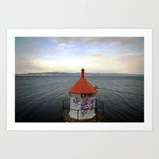 lighthouse. Art Print
