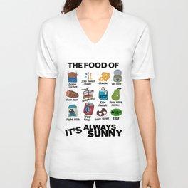 It's Always Sunny Food Unisex V-Neck