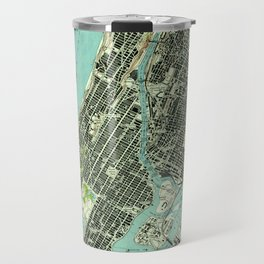 Vintage Central Park & Bronx NY Map (1947) Travel Mug