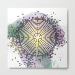 Meditative Labyrinth Metal Print