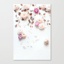 SPRING FLOWERS IN BLUSH 1 Canvas Print
