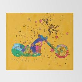ap127-8 Motorcycle Throw Blanket