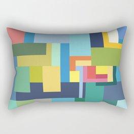 Color Cubes Rectangular Pillow