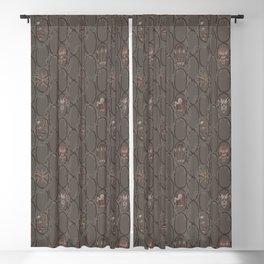 Dark Cowboy Repeat Pattern Blackout Curtain