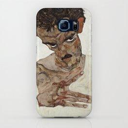 Egon Schiele - Self-Portrait with Lowered Head, 1912 iPhone Case