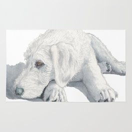 Sleepy Labradoodle Pup Rug