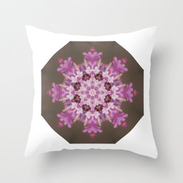 Lilac floral flake Throw Pillow