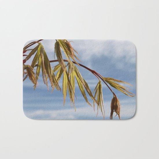 ACER TREE BRANCH IN SPRING Bath Mat
