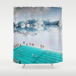 Icebergs Shower Curtain