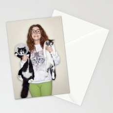 Crazy Cat Lady Photograph Stationery Cards