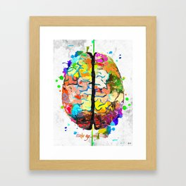 Human Brain Framed Art Print