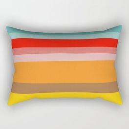 Color Stripes Rectangular Pillow