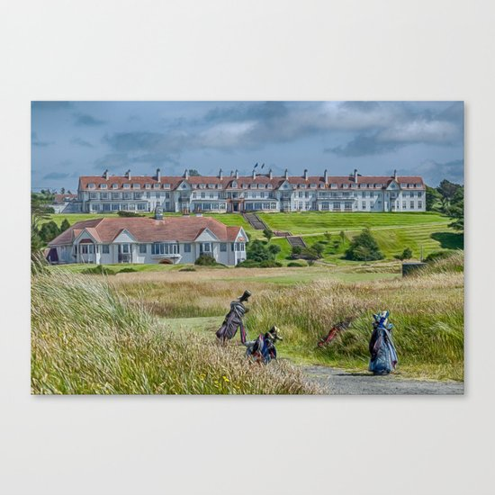 Turnberry Hotel and Golf Course Canvas Print