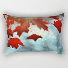 Leaves of Red Rectangular Pillow
