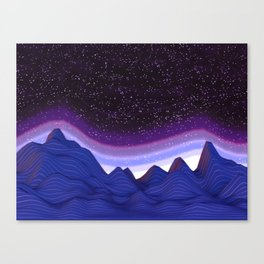 Mountains in Space Canvas Print