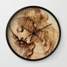 "Leonardo da Vinci ""Woman's head"" 3. Wall Clock"