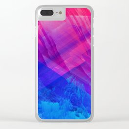 STRANGE LIGHTS - Abstract Digital Image Texture Glitch Art Clear iPhone Case