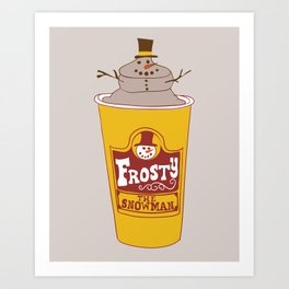 Frosty the Snowman Art Print