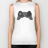 video game Biker Tanks featuring Pixelized Video Game Controller by Merr Peng