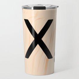 Scrabble Letter X - Scrabble Art and Apparel Travel Mug