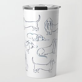 Basset Hounds Pattern Travel Mug