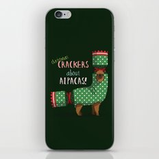 Christmas Crackers About Alpacas! iPhone & iPod Skin