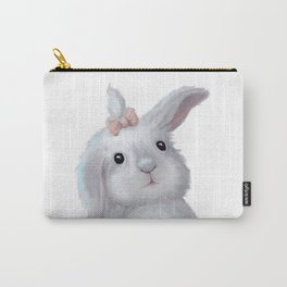 White Rabbit Girl isolated Carry-All Pouch