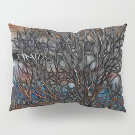 Abstract Sunset Tree Pillow Sham
