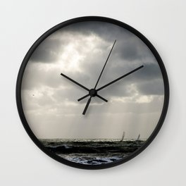 Dark Seaside Wall Clock