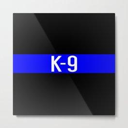 Police K-9 (Thin Blue Line) Metal Print