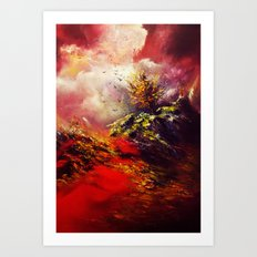 God of Fire and Red Earth Art Print