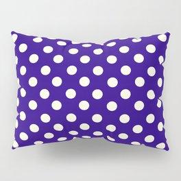 Polka Dot Madness, Navy Pillow Sham