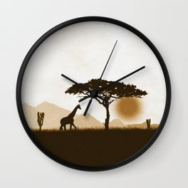 The desert biodivesity Wall Clock