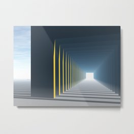 Linear Perspective of Light Metal Print