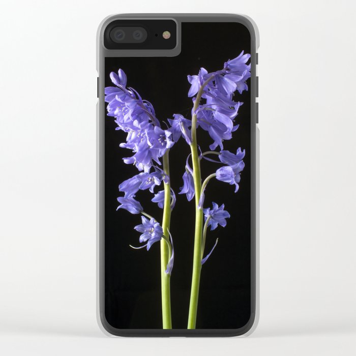 Bluebells, From the very Woods I Created! Clear iPhone Case