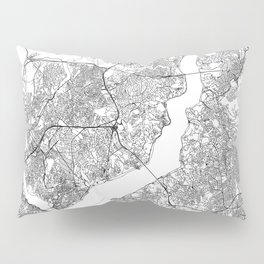 Istanbul White Map Pillow Sham