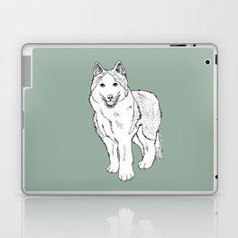 Sketch of siberian malamute Laptop & iPad Skin