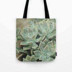 Botanical Graptopetalum Paraguayense in Jade and Antique Gold Tote Bag