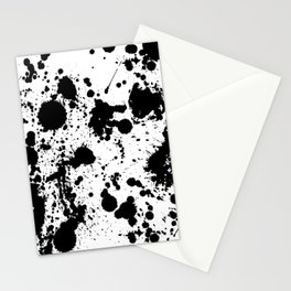 Ink spattered all over - Pattern #society6 #lifestyle Stationery Cards