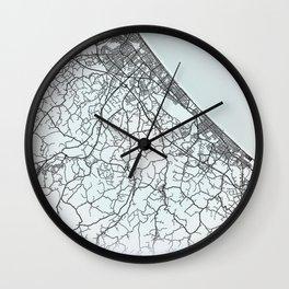 Rimini, Italy, White, City, Map Wall Clock