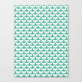Spring trefoil leaves seamless vector pattern. Canvas Print
