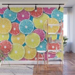 Citrus fruit slices pop art  Wall Mural
