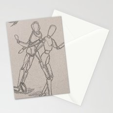 dancing mannequinns Stationery Cards