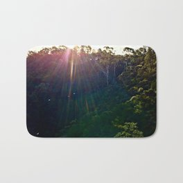 Whimsical Blue Mountains Bath Mat