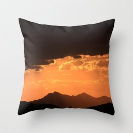 Desert Mountain Sunset VII Throw Pillow