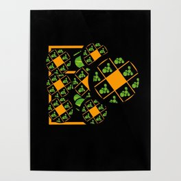 Orange and Green Spaces 100 Poster
